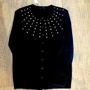Brand new with tags beaded black cardigan